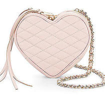 Nwt Rebecca Minkoff Quartz Pink Quilted Leather Heart Crossbody Sold Out Photo