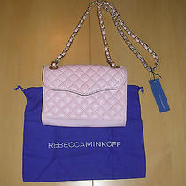 Nwt Rebecca Minkoff Quilted Mini Affair Quartz Leather Crossbody Handbag 195  Photo