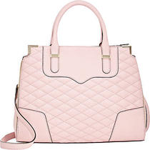 Nwt Rebecca Minkoff Quilted Quartz Pink Leather Amorous Convertible Satchel Photo