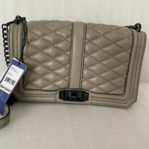 Nwt Rebecca Minkoff Sandstone Quilted Leather Love Crossbody Bag Clutch Photo