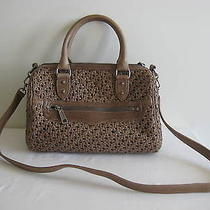 Nwt Rebecca Minkoff Taupe Leather Woven Flame Satchel Bag Handbag Rare Unique Photo
