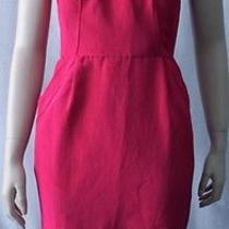 Nwt Rebecca Taylor Bright Pink Sweetheart Sateen Pockets Mini Dress 10 Medium M Photo