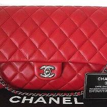 Nwt Red Chanel Classic Leather Cc Timeless Shoulder Bag Short Chain Clutch Photo