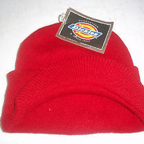 Nwt Red Dickies Mens/ladies Uniserx Beanie/cap/hat With Bill Photo