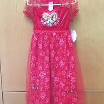 Nwt Red Disney Princess Fantasy Cinderella Belle Rapunzel Nightgown Size 4/5 Xs Photo