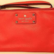 Nwt Red Leather Kate Spade Clutch With a Wrist Strap Photo