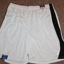 Nwt Reebok Athletic Exercise Shorts Basketball Active White Xl X-Large Photo