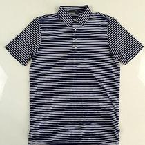 Nwt Rlx Ralph Lauren Men's Blue Green Striped Polyester Golf Sport Polo Shirt S Photo