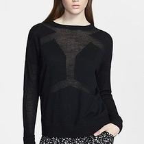 Nwt Robert Rodriguez 'Android' Seamed Black Sweater Size Small Photo