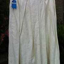 Nwt Robert Rodriguez Beige Cotton Pleated a Line Skirt  Sz 4  Orig 295 Photo