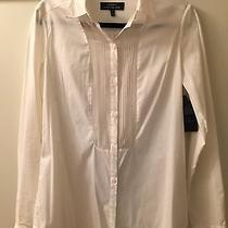 Nwt Robert Rodriguez White Tuxedo Shirt W/sheer Panels Size 8 Photo