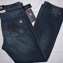 Nwt Rock and Republic Jeans Straight Neil Mens 33 32  Msrp88 Grunge Mechanic Photo