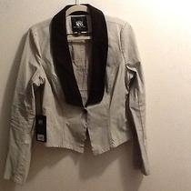 Nwt Rock & Republic Denim Black Tie Tuxedo Jacket Size 12 Photo