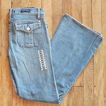 Nwt Rock & Republic Siouxsie Trouser Fit Flap Pocket Jeans Size 27 Light Wash Photo