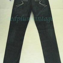 Nwt Rock & Republic Vaughn Blue Straight Leg Jean Collaboration Slay Bolts 33/34 Photo