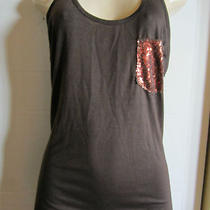 Nwt  Rock Revolution Medium  Fancy Tank Top  Brown/copper Bling Pocket  Ret 30 Photo