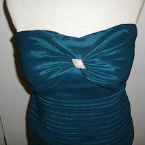 Nwt Romeo & Juliet Couture Dress Deep Aqua Cocktail Prom Fitted. Size M. Photo