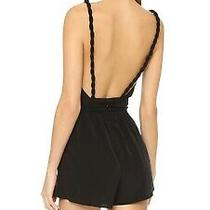 Nwt Rory Beca Black Jumpsuit Kaur Romper Braided Open Back S Small  Usa 163 Usd Photo