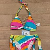 Nwt Roxy 2 Piece Bikini Juniors Size Xs Msrp 66. Photo