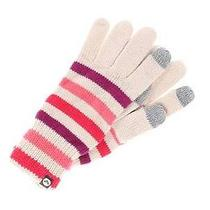 Nwt Roxy Lol Media / Texting Gloves Mittens.  Ivory Multi Color 24 Photo