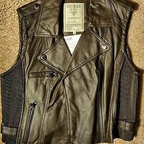 Nwt Rsvp 68 Guess Leather Vest Size L  Photo