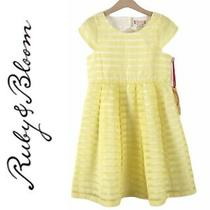 Nwt Ruby & Bloom Girls Yellow and White Easter Dress Size 8 Nordstrom Photo