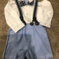 Nwts-Boutique-Mud Pie-3-Pc. Dressy Shorts Outfit W/bowtie 6-9m Photo