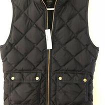 Nwts J. Crew Factory Quilted Zipped Puffer Vest - Sm - 2 Navy Blue Photo