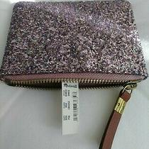 Nwt's  New Madewell Pink Glitter Coin Purse/ Case Retail  49.50 Photo