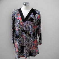 Nwt's Ralph Lauren Beautiful Bright Color Paisley Belted Tunic 1x  Photo