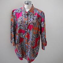 Nwt's Ralph Lauren Beautiful Bright Color Paisley Shirt  3x  Photo