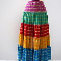 Nwt's Ralph Lauren Beautiful Full Long Bright Color Skirt  1x  Photo