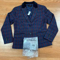 Nwt's Talbots Blazer Women's Sz 8 Plaid Wool Blend Msrp 189 Multicolor Cute Photo
