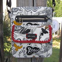 Nwt Sakroots Crossbody Small Messenger Bag in Ochre Flower Power Design Photo