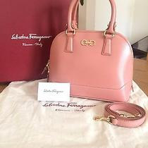 Nwt Salvatore Ferragamo Mini Darina Dome Satchel in Blush (Retail 1390) Photo