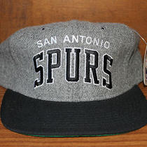 Nwt San Antonio Spurs Nba Starter Heather Arc Script Snapback Hat Cap Photo