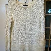 Nwt Sanctuary Anthropologie Boucle Ivory White Tunic Sweater Top Fur Womens M   Photo