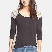 Nwt Sanctuary Lace Inset Tee--Medium Photo