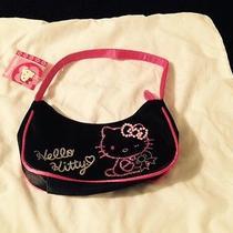 Nwt Sanrio Hello Kitty Black Satin Purse Photo