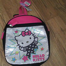 Nwt  Sanrio Hello Kitty Pink & Black Sequined Mini (10