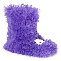 Nwt Sanrio Hello Kitty Plush Purple Shag Boot Slippers-Women's Small 5/6   Photo