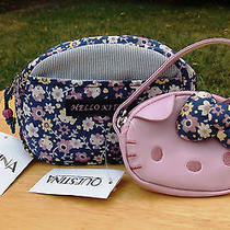 Nwt Sanrio Original Hello Kitty Reversible Cosmetic Pouch and Face Coin Purse Photo