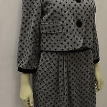 Nwt Sara Campbell Black Glen Plaid Velvet Accent Dress Jacket Set Sz 6 160102bjb Photo