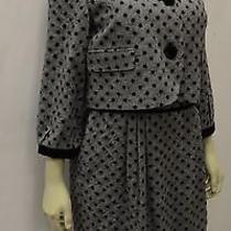 Nwt Sara Campbell Black Glen Plaid Velvet Accent Dress Jacket Set Sz 6 160102bjb Photo