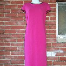 Nwt Sara Campbell Boston Fushia/pink Knit Dress M 246 Photo
