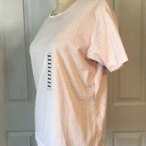 Nwt Sarah Bentley Blush Pink Short Sleeve T-Shirt Size Medium Photo