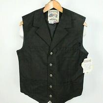Nwt Schaefer Outfitter Ranger Vest Canvas Black Button Up Sz M Usa Made Western Photo