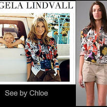 Nwt See by Chloe Size 4 Safari Blouse Button Down Shirt -495 Seen in Vogue Photo