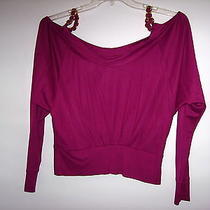 Nwt Sexy Dolce & Gabbana Violet Blouse Top Size Xs 100% Viscose Photo