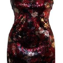 Nwt Sexy Red & Black Sequin Cocktail Dress Sz 6 Photo